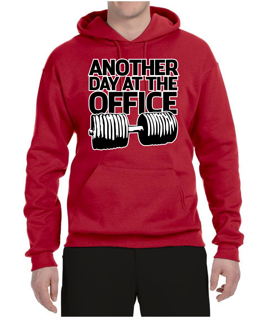 Another Day at the Office Mens Gym Sweatshirt Graphic Workout Hoodie