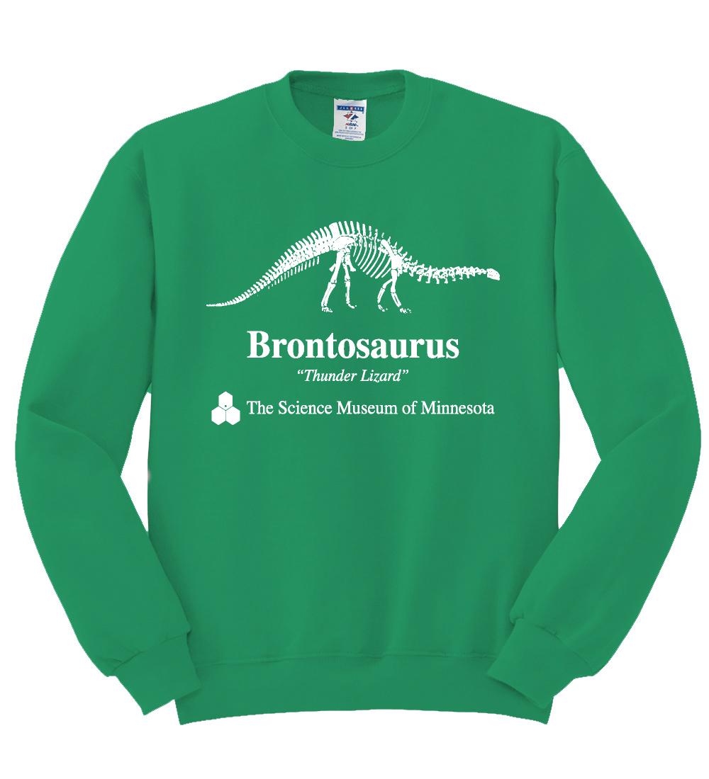 Brontosaurus Stranger Fan Mens Crewneck Sweatshirt Dustins Museum Sweater