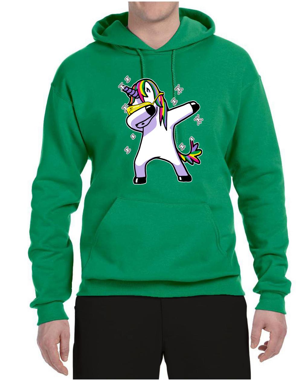 Dabbing Unicorn Mens Animal Lover Sweatshirt Dabbin Hoodie