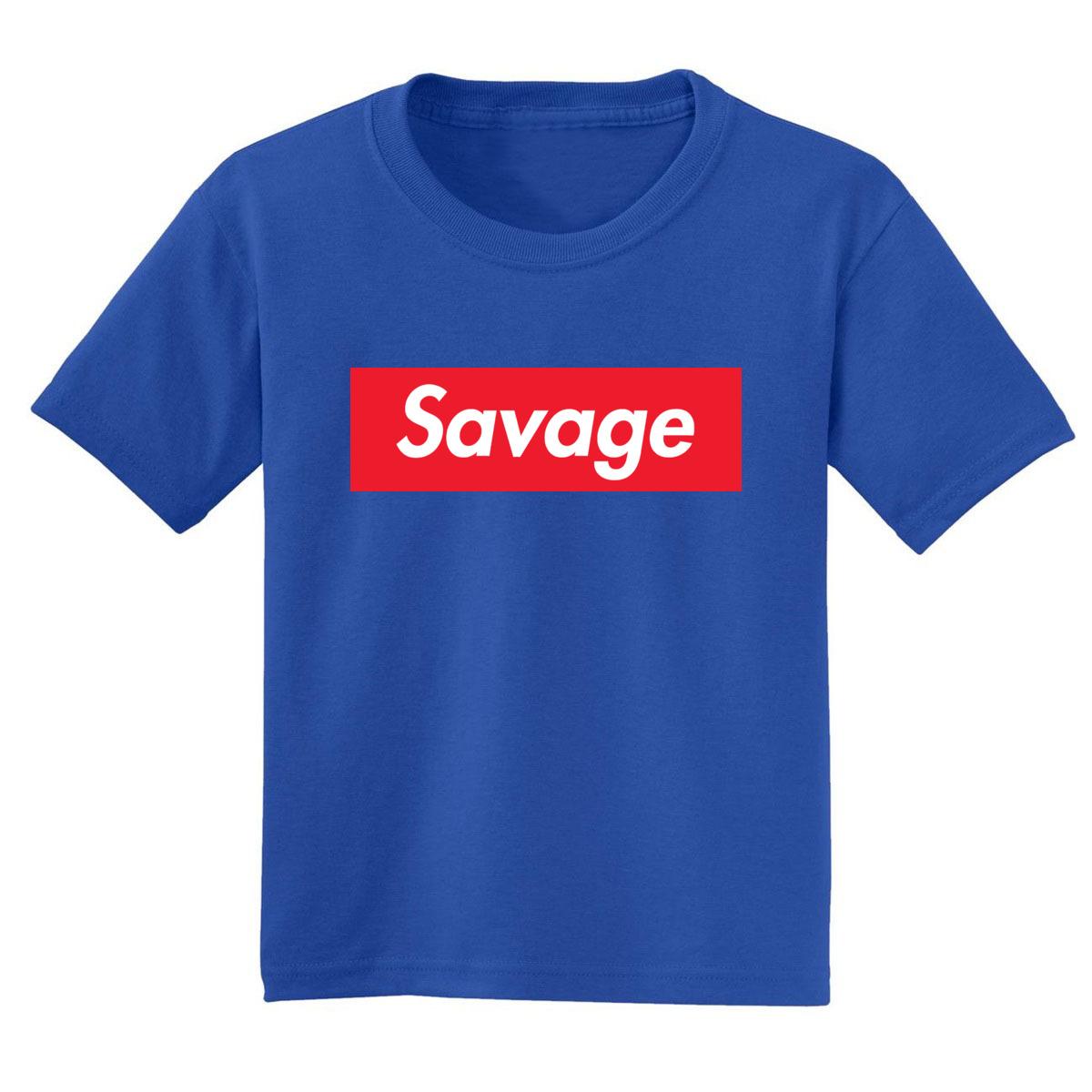 Savage Boys T-Shirt Streetwear Logo Parody Graphic Tee