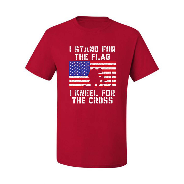 Mens I Stand For The Flag Kneel For The Fallen Camo Baseball Raglan T Shirt Army