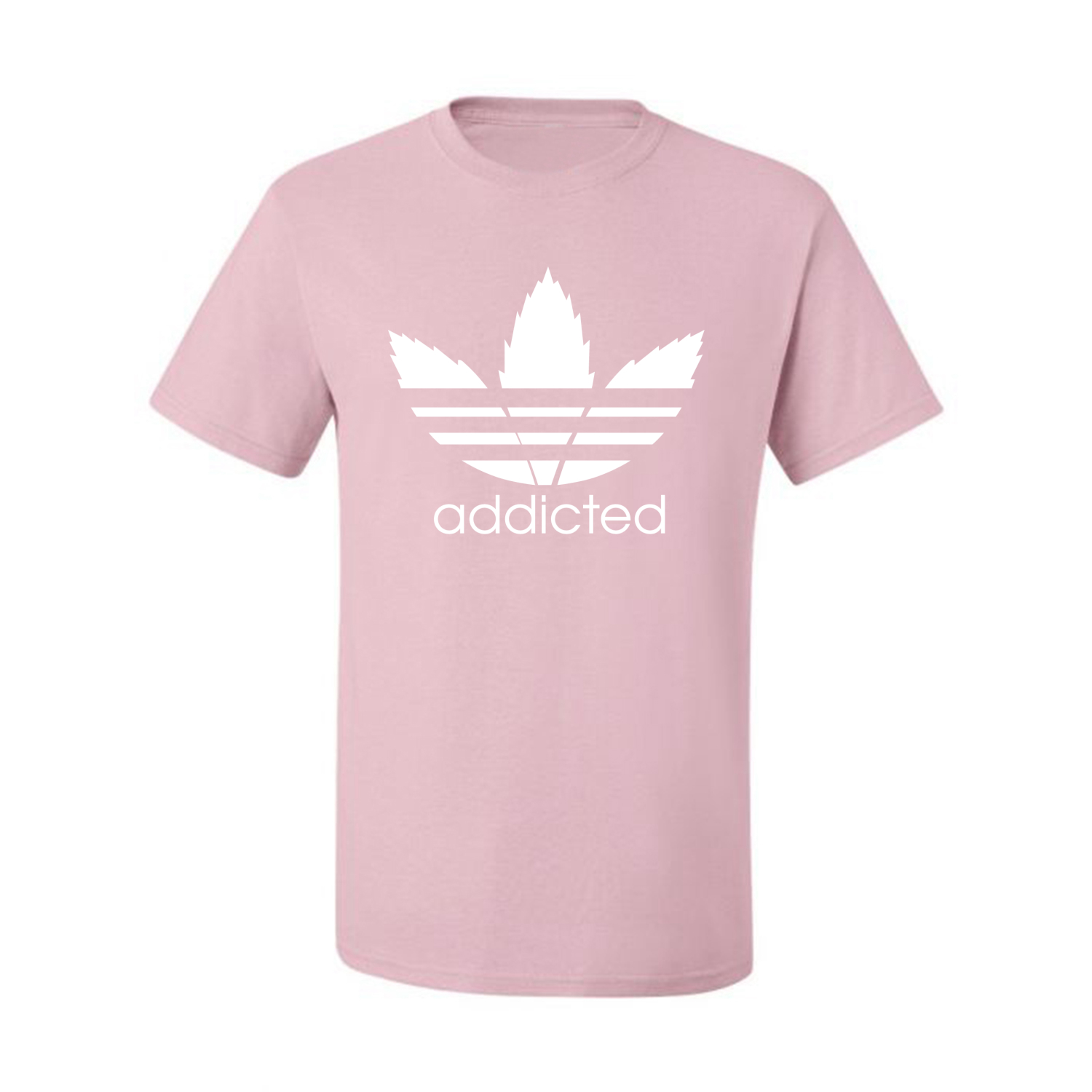 Addicted-White-Pot-Leaf-Mens-Weed-T-Shirt-Graphic-Parody-Tee thumbnail 18