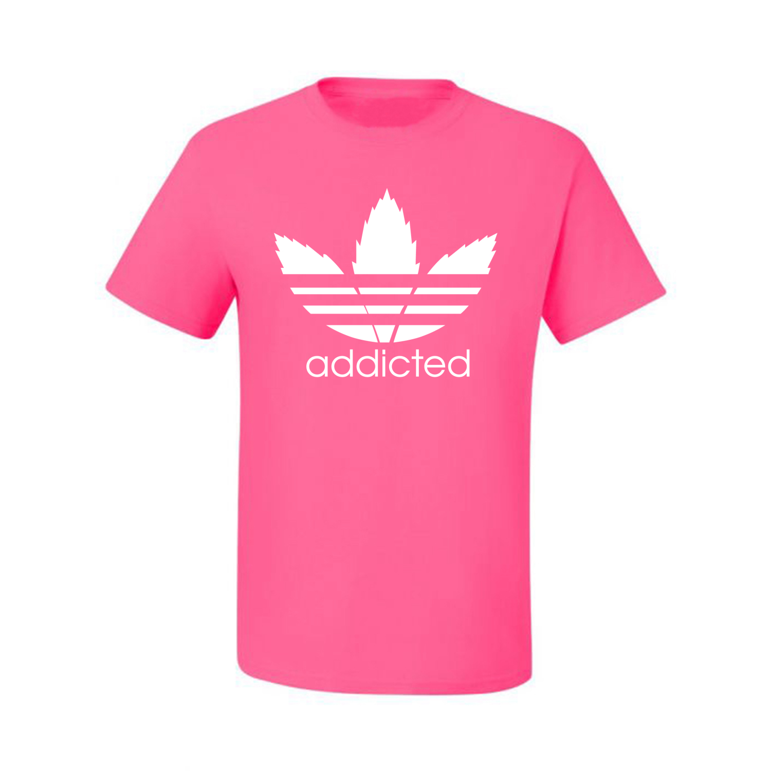 Addicted-White-Pot-Leaf-Mens-Weed-T-Shirt-Graphic-Parody-Tee thumbnail 26