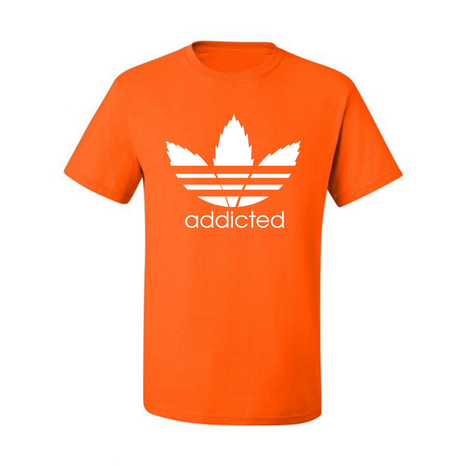 Addicted-White-Pot-Leaf-Mens-Weed-T-Shirt-Graphic-Parody-Tee thumbnail 30