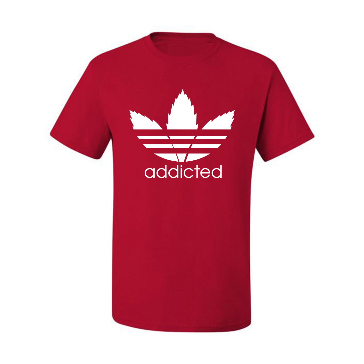 Addicted-White-Pot-Leaf-Mens-Weed-T-Shirt-Graphic-Parody-Tee thumbnail 34