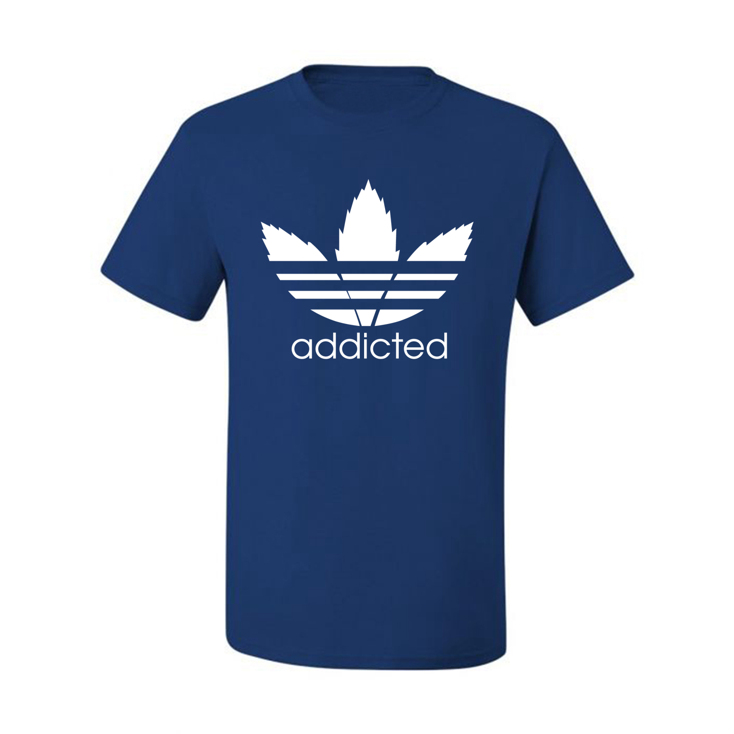 Addicted-White-Pot-Leaf-Mens-Weed-T-Shirt-Graphic-Parody-Tee thumbnail 36