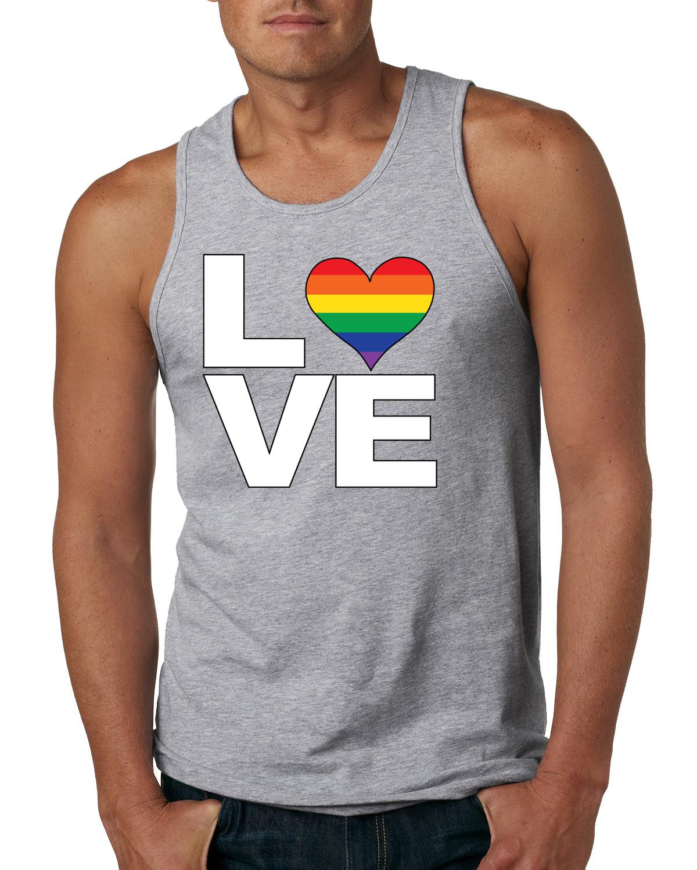 love heart mens lgbt pride tank top gay muscle shirt  ebay