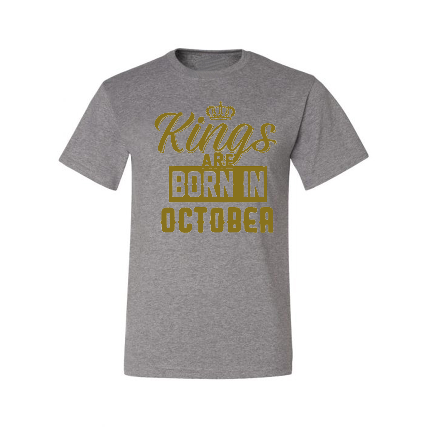 Kings-Are-Born-In-October-Mens-Birthday-T-Shirt-Graphic-Anniversary-Gift-Tee thumbnail 12