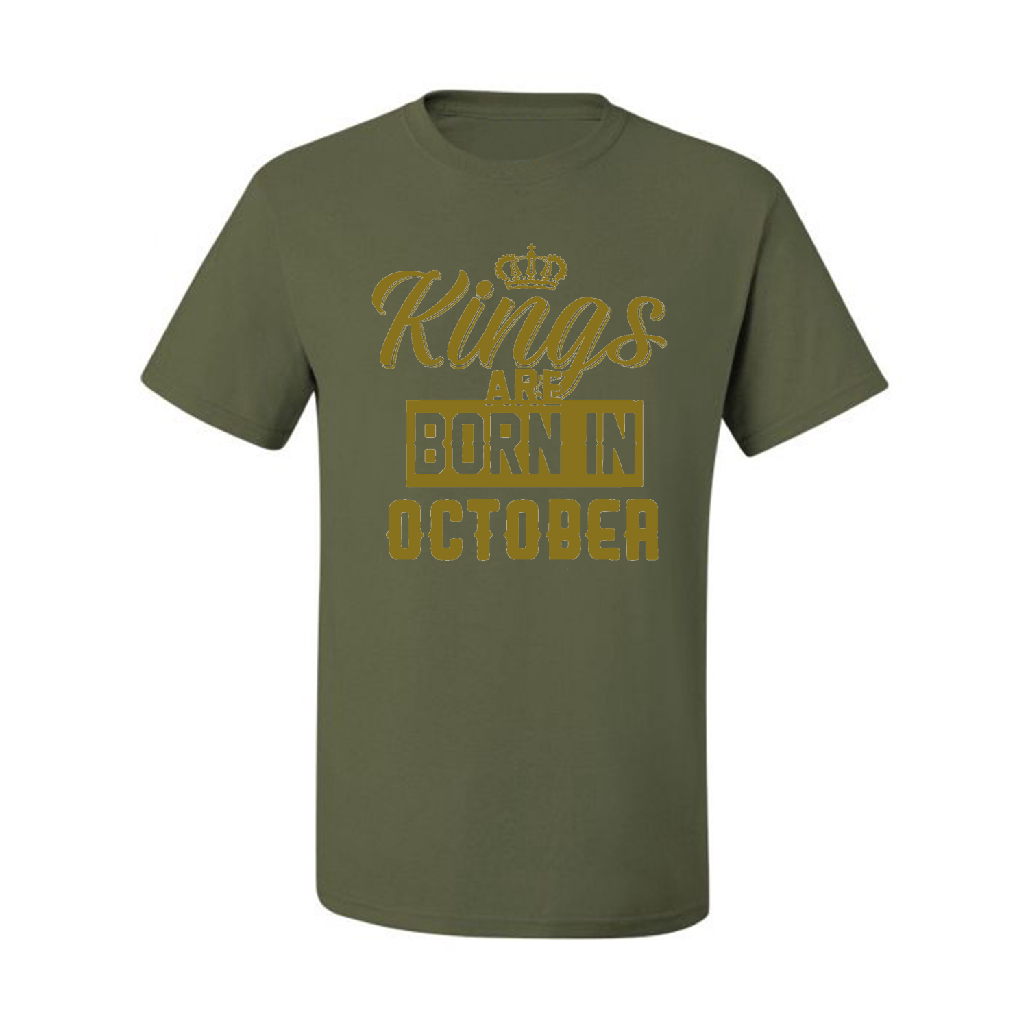 Kings-Are-Born-In-October-Mens-Birthday-T-Shirt-Graphic-Anniversary-Gift-Tee thumbnail 24