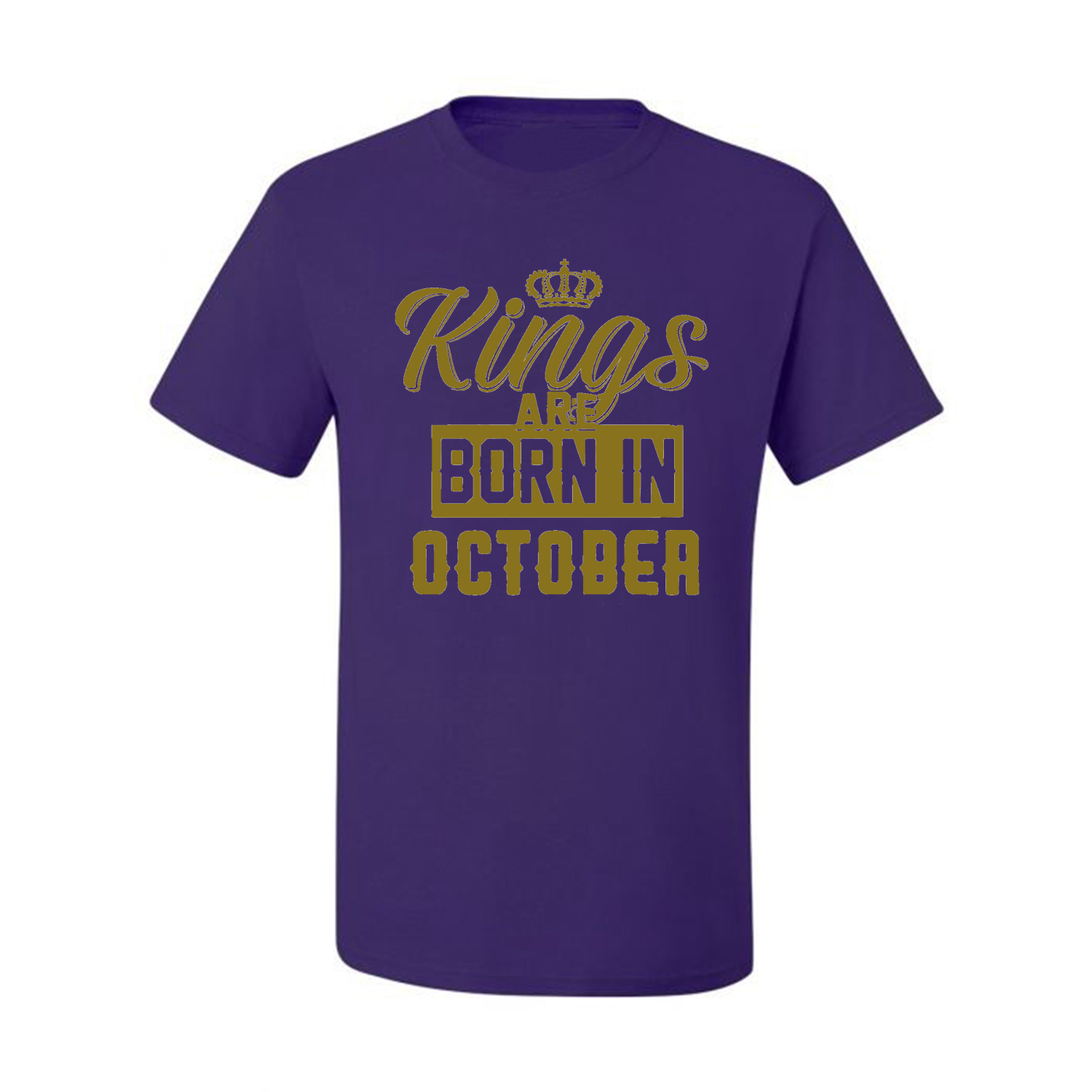 Kings-Are-Born-In-October-Mens-Birthday-T-Shirt-Graphic-Anniversary-Gift-Tee thumbnail 32