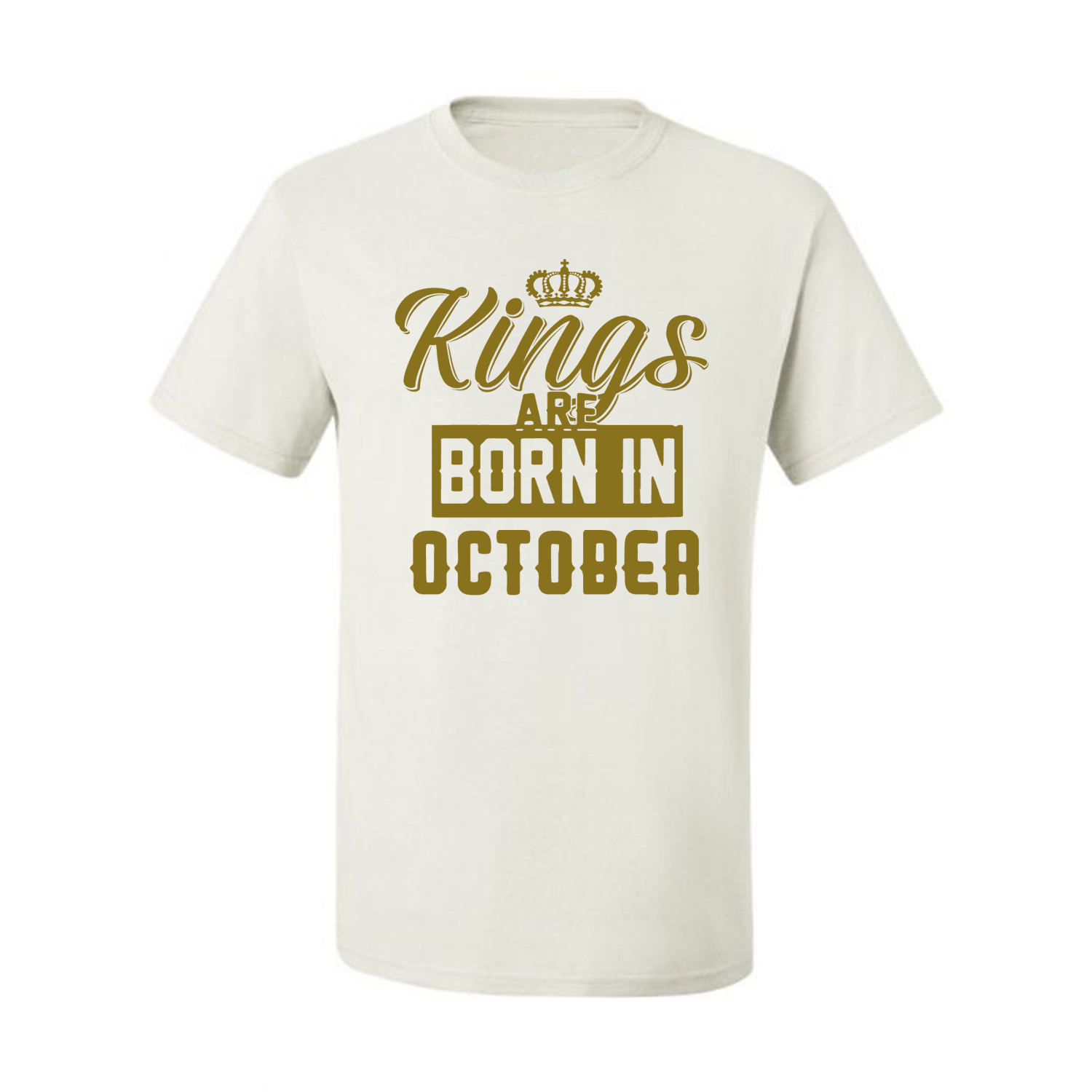 Kings-Are-Born-In-October-Mens-Birthday-T-Shirt-Graphic-Anniversary-Gift-Tee thumbnail 38
