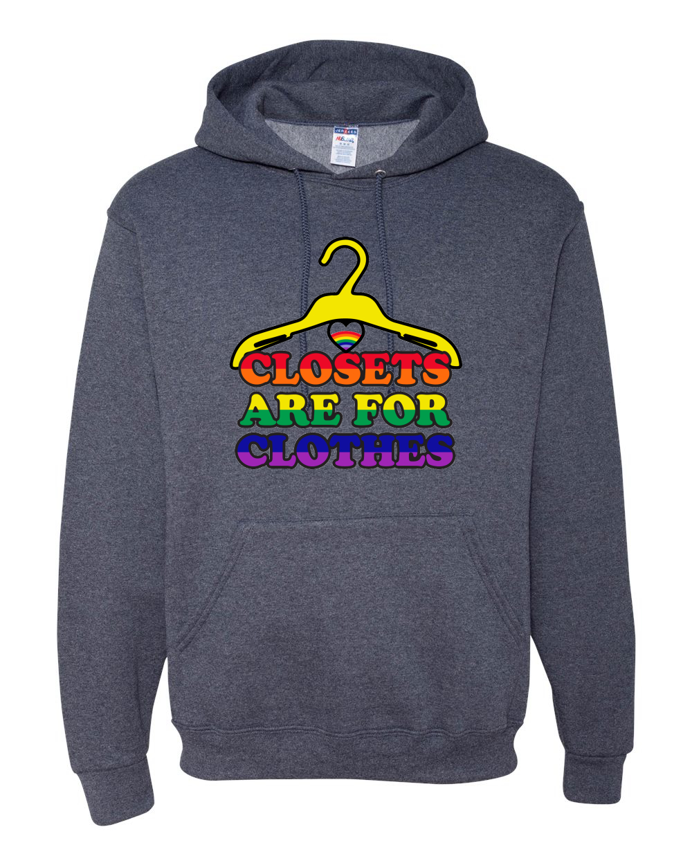 daad91eae80 Closests Are For Clothes LGBT Pride Sweatshirt Gay Bi Trans Hoodie ...