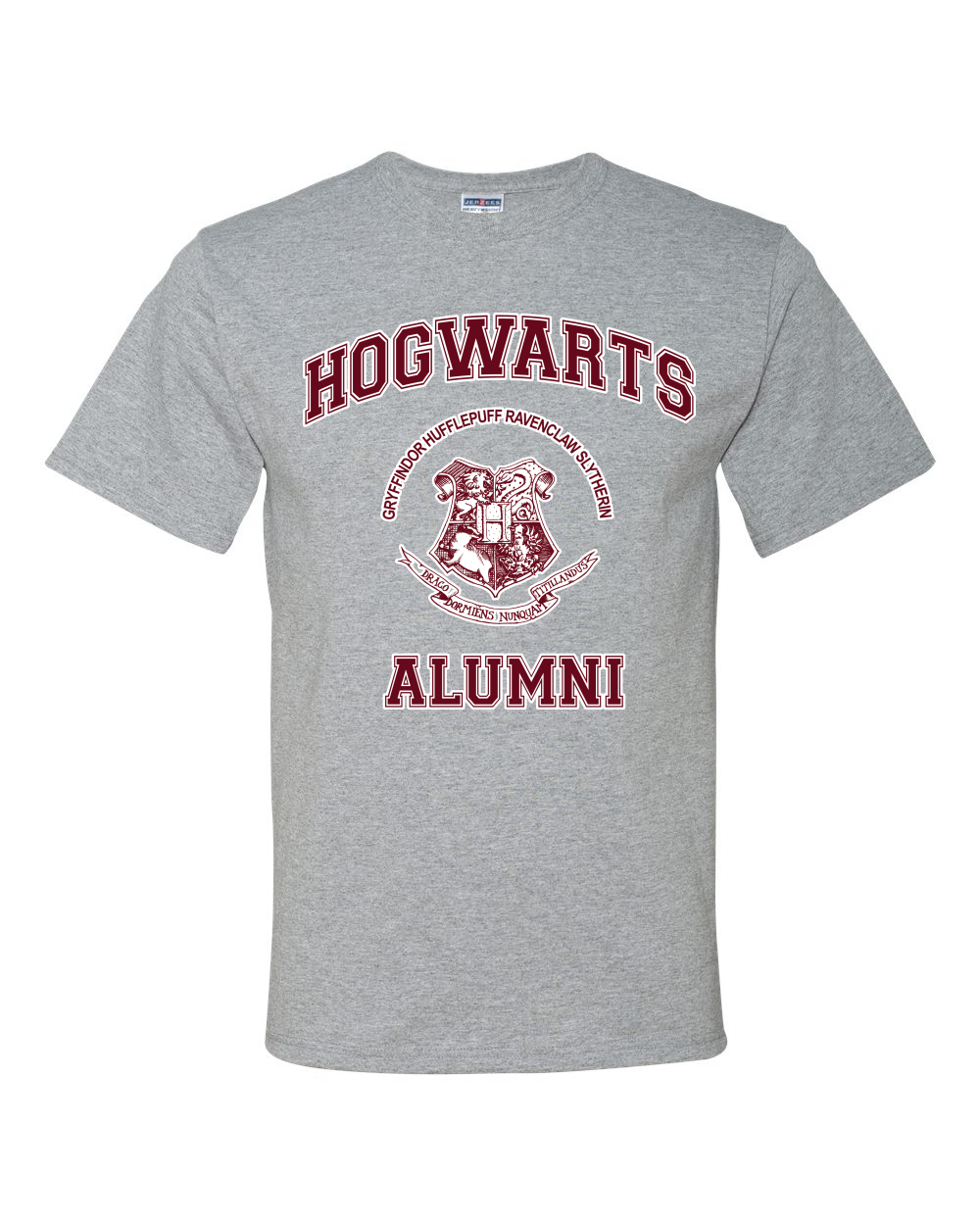 Hogwarts Alumni Potter Fan Mens Graphic T-Shirt Movie Tee
