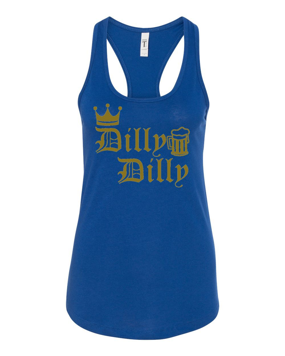 2060517ec228a Dilly Dilly St Patricks Day Womens Jersey Racerback Humor Tank Top ...